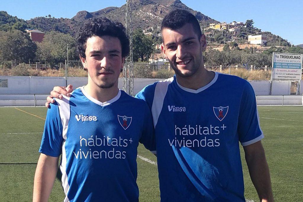El cadete Pablo Guimera, a la izquierda.